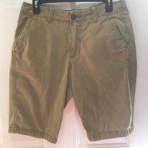 Hollister khaki shorts.